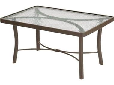 Tropitone Obscure Glass Cast Aluminum 36''W x 24''D Rectangular Coffee Table TP720239G