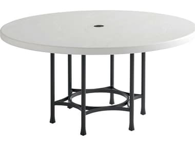 Tommy Bahama Outdoor Pavlova Aluminum 60'' Wide Round Dining Table with Umbrella Hole TR3910870C
