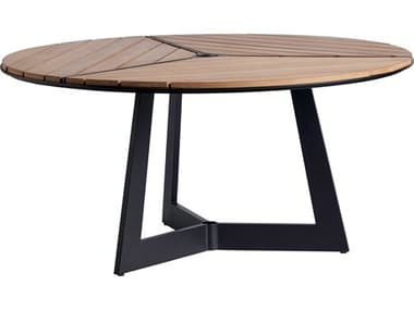 Tommy Bahama Outdoor South Beach Aluminum 60'' Wide Round Dining Table with Umbrella Hole TR3940875C