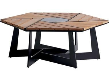 Tommy Bahama Outdoor South Beach Aluminum 46''W x 40''D Hexagonal Coffee Table TR3940947
