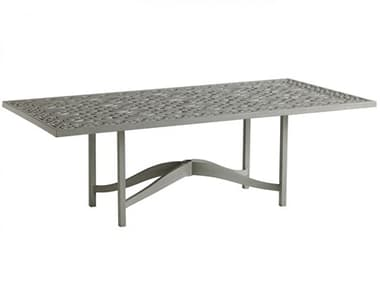 Tommy Bahama Outdoor Silver Sands Aluminum 88'' W x 45'' D Rectangular Dining Table with Umbrella Hole TR3945877CT3945877TB