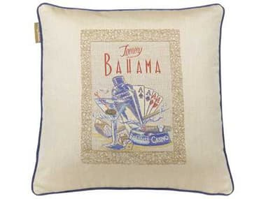 Tommy Bahama Outdoor Paradise 18'' x 18'' Paradise 18'' x 18''Casino (Fresco) Pillow TR888018NN