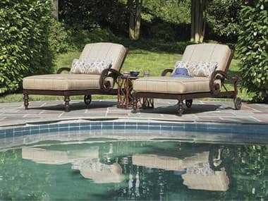 Tommy Bahama Outdoor Black Sands Cast Aluminum Conversation Cushion Lounge Set TRBLSANDLNGSET12
