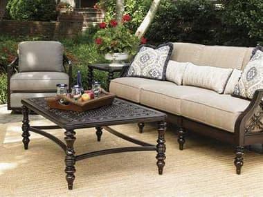 Tommy Bahama Outdoor Black Sands Cast Aluminum Conversation Cushion Lounge Set TRBLSANDLNGSET14