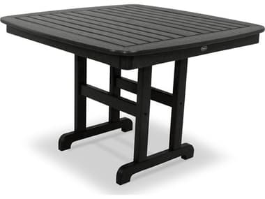 Trex® Outdoor Furniture™ Yacht Club Recycled Plastic 44'' Wide Square Dining Table with Umbrella Hole TRXTXNCT44