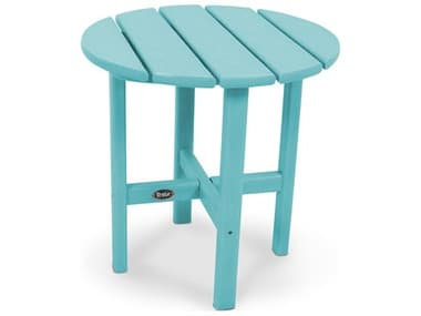 Trex® Outdoor Furniture™ Cape Cod Recycled Plastic 18'' Wide Round End Table TRXTXRST18