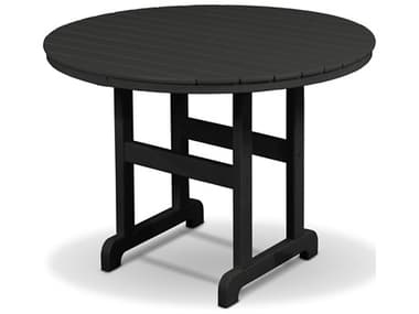 Trex® Outdoor Furniture™ Monterey Bay Recycled Plastic 36'' Wide Round Dining Table with Umbrella Hole TRXTXRT236