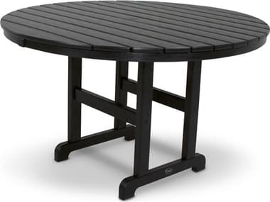 Trex® Outdoor Furniture™ Monterey Bay Recycled Plastic 48'' Wide Round Dining Table with Umbrella Hole TRXTXRT248