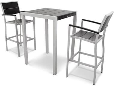 Trex® Outdoor Furniture™ Surf City Aluminum 3 Piece Bar Set TRXTXS1261