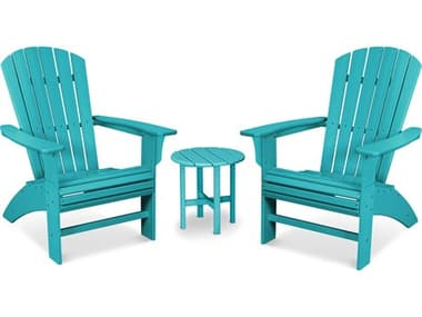 Trex® Outdoor Furniture™ Recycled Plastic Yacht Club 3 Piece Curveback Adirondack Lounge Set TRXTXS4541