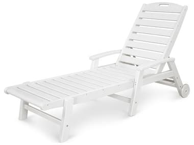 Trex® Outdoor Furniture™ Yacht Club Recycled Plastic Wheeled Chaise Lounge TRXTXW2280