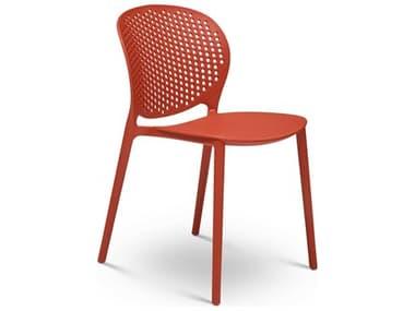 Urbia Outdoor Bailey Dark Orange Recycled Plastic Dining Chair UROCDHBLYSCDOR
