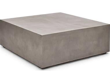 Urbia Outdoor Bloc Dark Grey 47'' Wide Concrete Square Coffee Table UROVGSBLOC48SQ