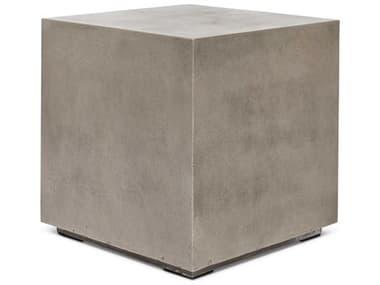Urbia Outdoor Bloc Dark Grey 21'' Wide Concrete Square End Table UROVGSBLOCET