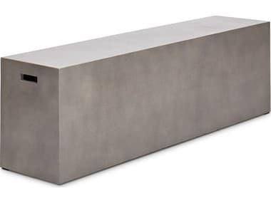 Urbia Outdoor Una Dark Grey 60'' Wide Concrete Bench UROVGSUNABENCH60