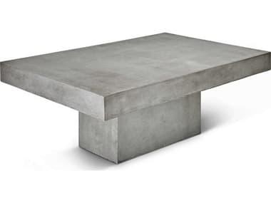 Urbia Outdoor Una Dark Grey 47'' Wide Concrete Rectangular Coffee Table UROVGSUNARECTCT