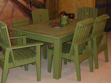 Uwharrie Chair Behren Wood 42 x 69 Rectangular Dining Table UWB091