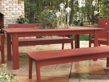 Uwharrie Chair Behren Wood 42 x 85 Rectangular Dining Table UWB093
