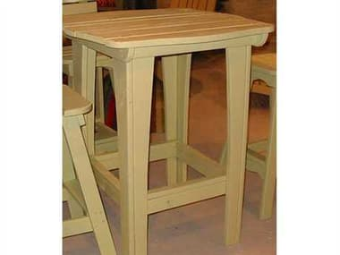 Uwharrie Chair Behren Wood 42 Square Dining Table with Umbrella Hole UWB094