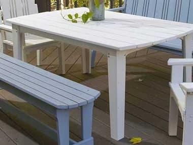 Uwharrie Chair Carolina Preserves Wood 85 x 40.5 Rectangular Dining Table UWC093