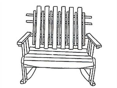 Uwharrie Chair Nantucket Wood Arm Rocker Loveseat UWN153