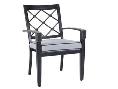 Veranda Classics Bella Cast Aluminum Glossy Black Dining Arm Chair - Price Includes 4 Packs VER85C0120S011