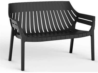 Vondom Outdoor Spritz Black Matte Resin Sofa (Set of 4) VOD56025BLACK