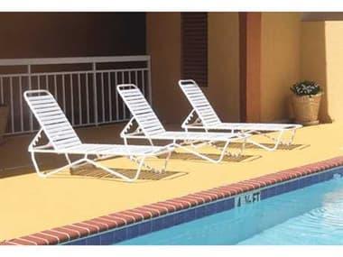 Windward Design Group Aruba Strap Aluminum Lounge Set WINARUBASTRPLNGSET