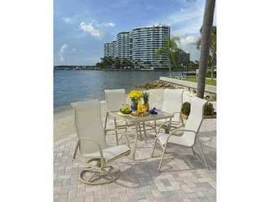 Windward Design Group Ocean Breeze Sling Aluminum Dining Set WINOCNBREEZEDINSET