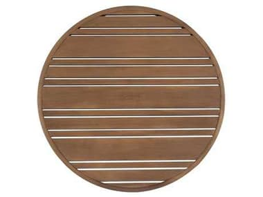 Woodard Extruded Aluminum Tri-Slat 22'' Wide Round Table Top WR02622