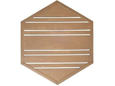 Woodard Tri-Slat Extruded Aluminum 22'' Wide Hexagonal Table Top WR02623