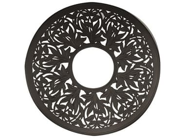 Woodard Cast Aluminum Napa 60'' Wide Round Fire Table Top with Burner Cover WR03160FP