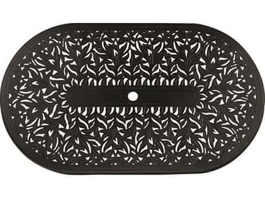 Woodard Cast Aluminum Napa 72''W x 42''D Oval Table Top with Umbrella Hole WR03172