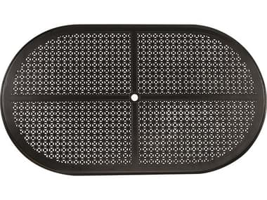 Woodard Cast Aluminum Hampton 84''W x 48''D Oval Table Top with Umbrella Hole WR05184