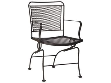 Woodard Constantine Wrought Iron Coil Spring Dining Arm Chair WR130066