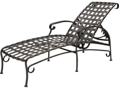 Woodard Ramsgate Strap Aluminum Adjustable Chaise Lounge WR16M470
