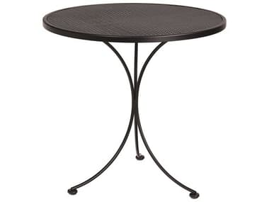 Woodard Wrought Iron Mesh 30'' Wide Round Bistro Table WR190134