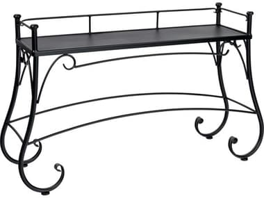 Woodard Wrought Iron 56''W x 18''D Rectangular Solid Top Console Table WR190202