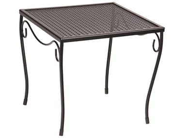 Woodard Wrought Iron Mesh 16'' Wide Square Medium End Table WR190213