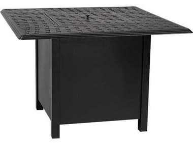 Woodard Universal Aluminum Square Dining Height Fire Table Base with Square Burner WR1CM1SQSB