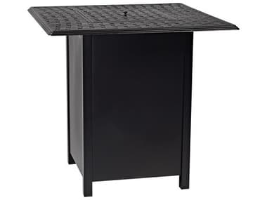 Woodard Universal Aluminum Square Bar Height Fire Table Base with Square Burner WR1CM3SQSB