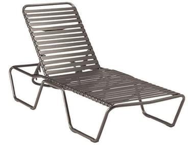 Woodard Baja Strap Aluminum Stackable Adjustable Chaise Lounge WR23M470