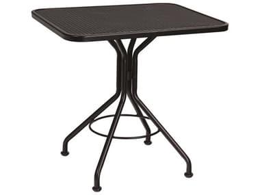 Woodard Wrought Iron Mesh 30''W x 24''D Rectangular Bistro Table WR280092