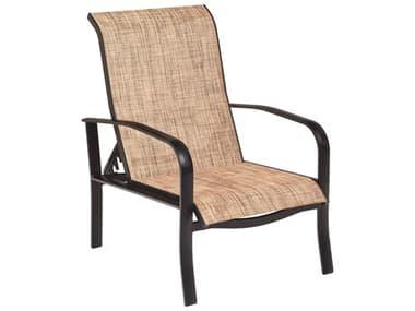 Woodard Fremont Sling Aluminum Adjustable Lounge Chair WR2P0435