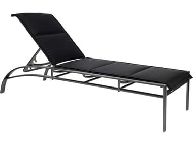 Woodard Metropolis Padded Sling Aluminum Stackable Adjustable Chaise Lounge WR320570