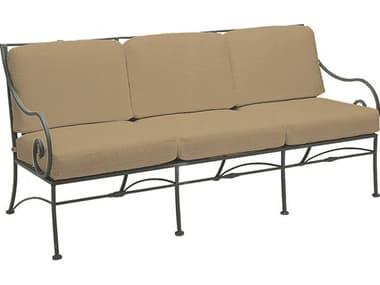 Woodard Sheffield Cushion Wrought Iron Sofa WR3C0020