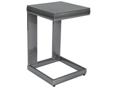 Woodard Metropolis Aluminum Universal 14'' Wide Square C End Table WR3G0696