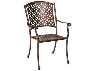 Woodard Casa Cast Aluminum Stackable Dining Arm Chair WR3Y0401