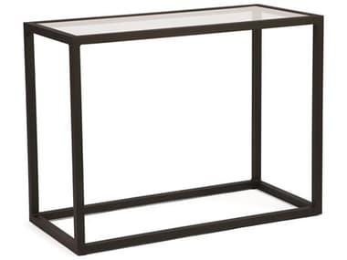 Woodard Salona By Joe Ruggiero Aluminum 48''W x 18''D Rectangular Glass Top Console Table WR3Z0476