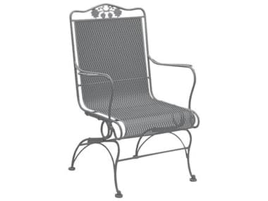 Woodard Briarwood Wrought Iron High Back Coil Spring Lounge Chair WR400066
